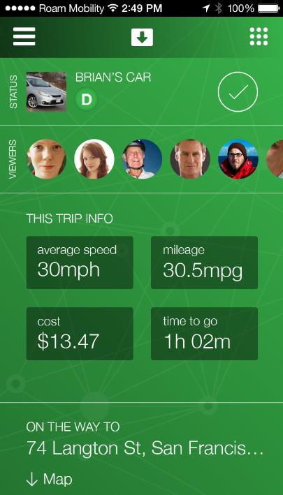 Mojio app screenshot