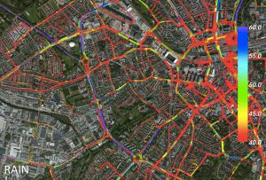 Nokia Here traffic analytics in action (Source: Nokia)