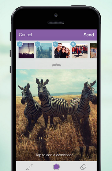 Viber's new multi-photo feature on the iPhone (source: Viber)