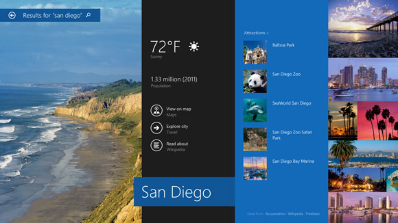 Microsoft Windows 8.1 bing smart search
