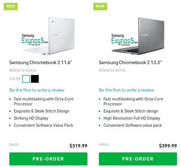 Chromebook 2 preorders