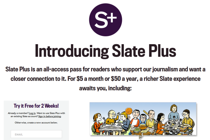 Slate tries to buck the paywall trend by focusing on membership