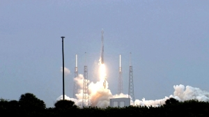 SpaceX rocket lifts off from Space Launch Complex 40 at Cape Canaveral Air Force Station carrying the Dragon resupply spacecraft to the International Space Station. Liftoff was at 3:25 p.m. EDT. Image Credit: NASA