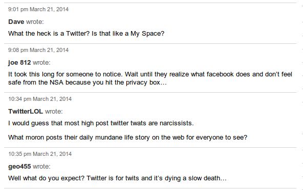 Twitter comments WSJ