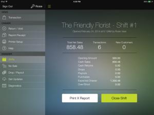 ShopKeep's small business-facing iPad interface (Source: ShopKeep)