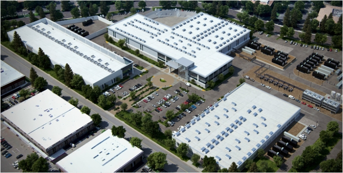 The Vantage campus in Santa Clara, where Cloudera's data center is now located. Source: Vantage