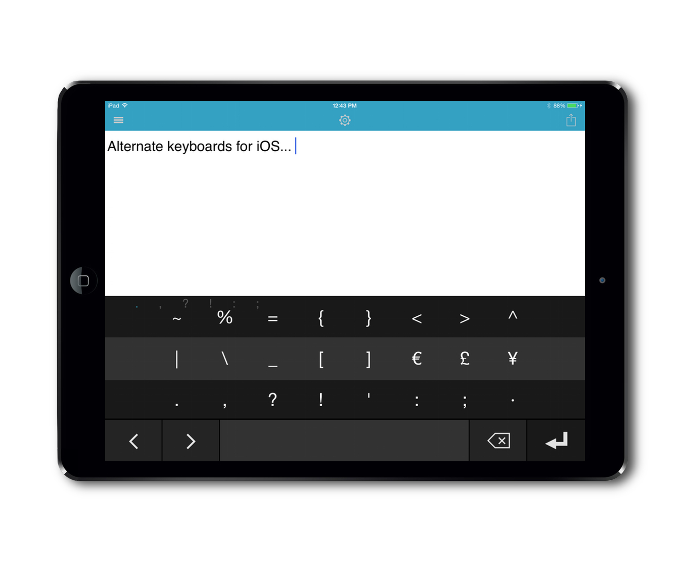 Alternate iOS Keyboards