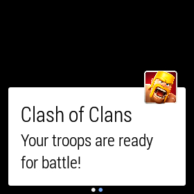 clash of clans android wear