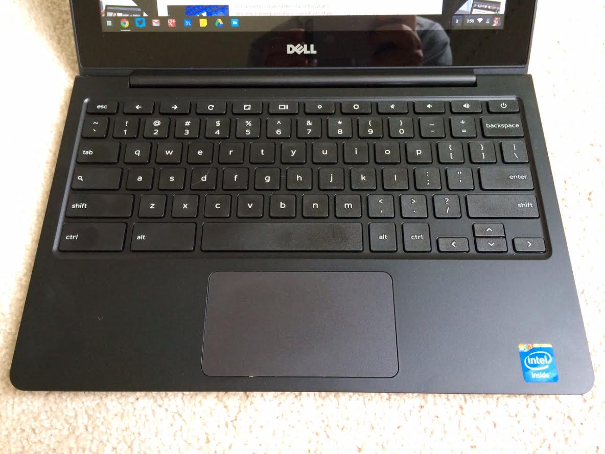 dell chromebook keyboard and trackpad