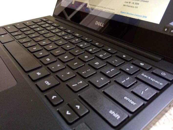 dell chromebook keyboard side