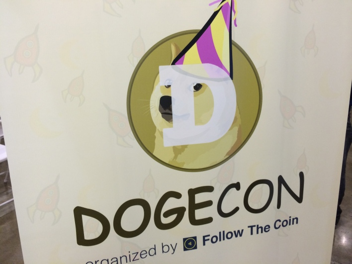 The Dogecoin seen at Dogecon. Photo by Biz Carson/Gigaom