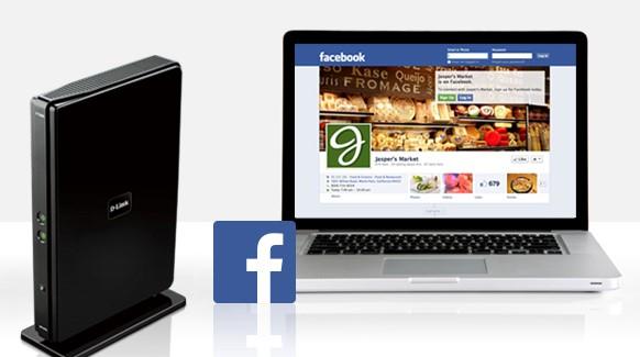 Dlink facebook router