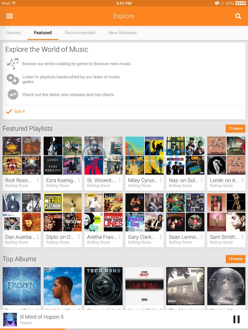google play music ipad
