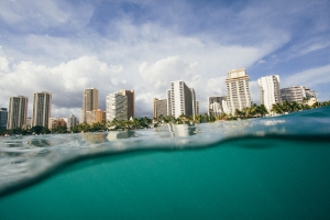 Honolulu from the ocean