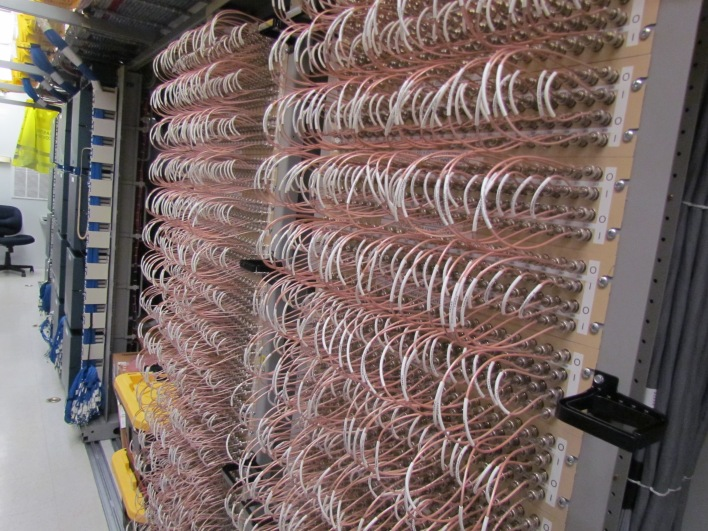 DS3 or T3 lines. Though much of AT&T's traffic now travels over fiber, the disaster recovery team still has to restore older copper data connections. (Photo: Kevin Fitchard)