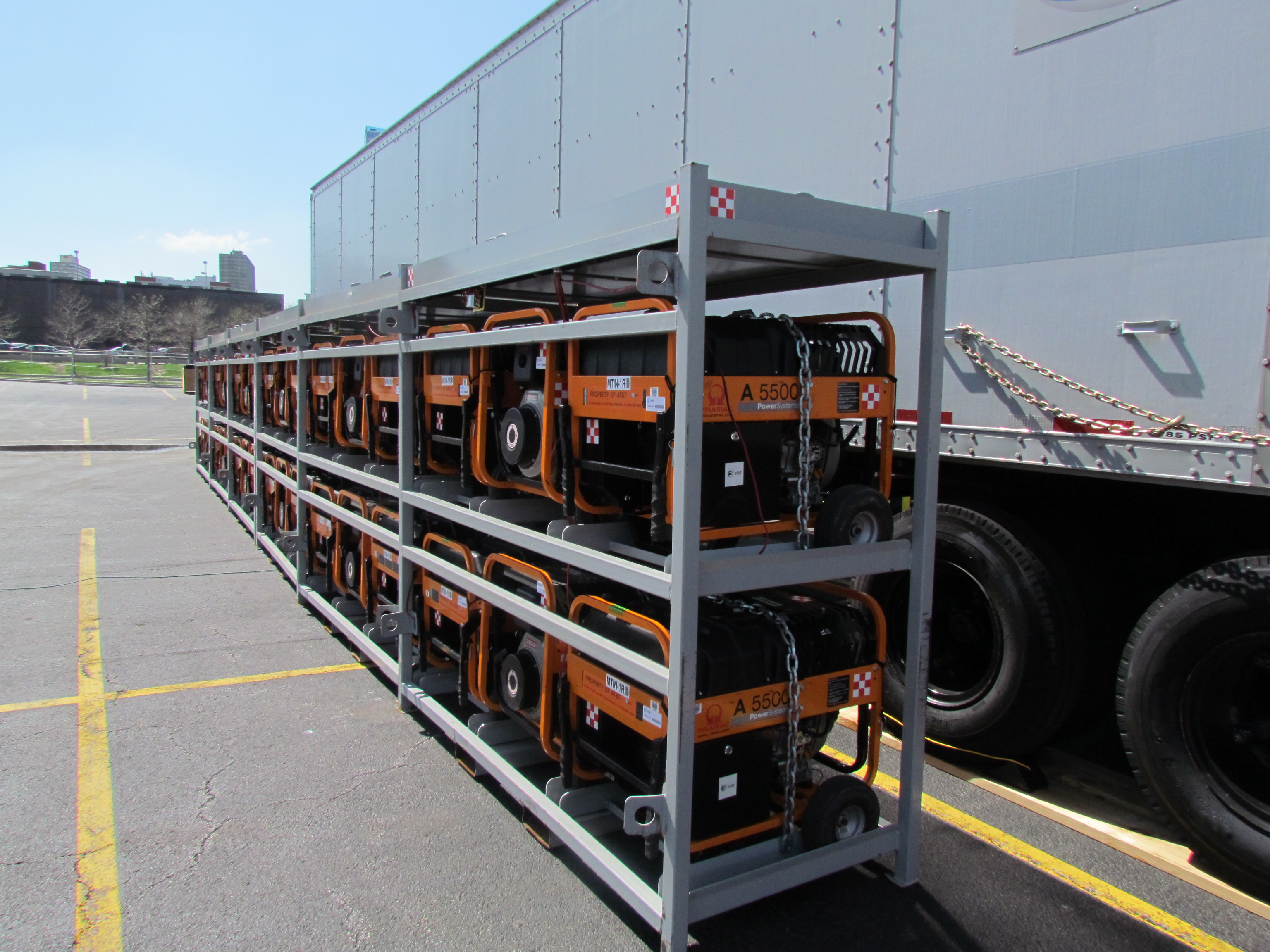 AT&T's disaster recovery team will tap into local power supplies where available but can run its network off generator power if necessary (Photo: Kevin Fitchard)