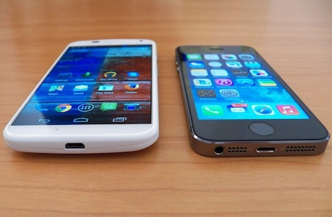 moto x and iPhone 5s