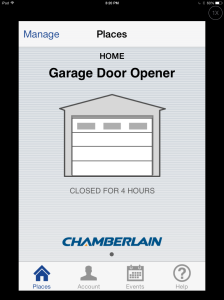 Look, my garage door is currently closed.