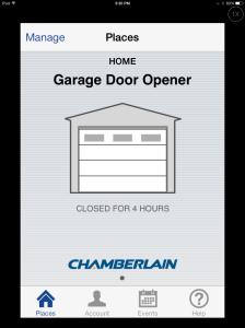 Look, my garage door is currently closed.