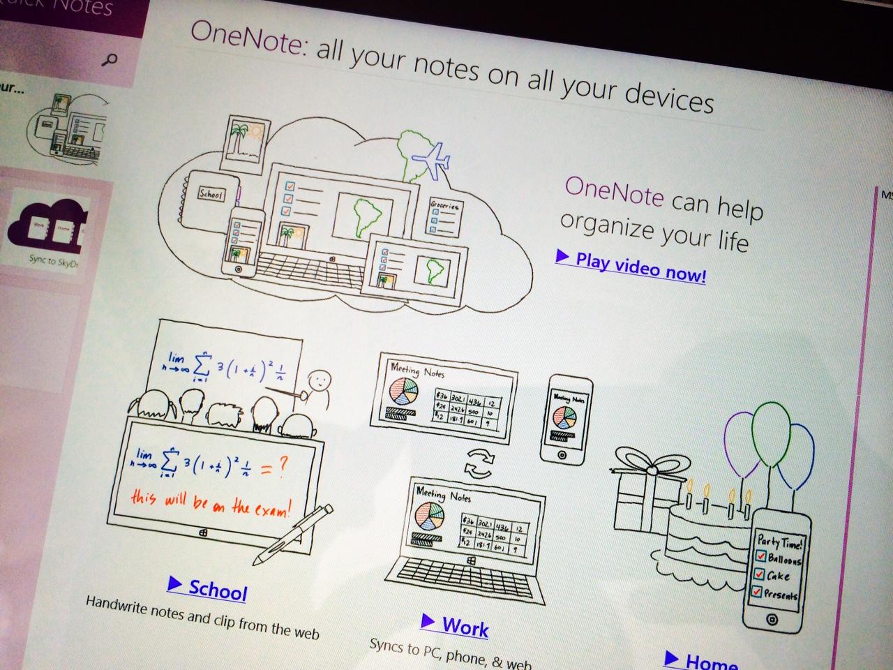OneNote Surface Pro 3