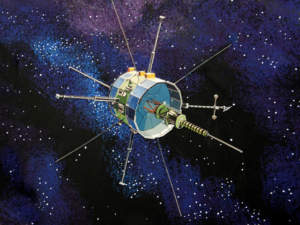 An artist's concept image of ISEE-3 (ICE) spacecraft.