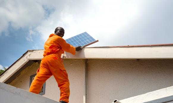 A home solar system from SolarNow in Kayunga, Uganda