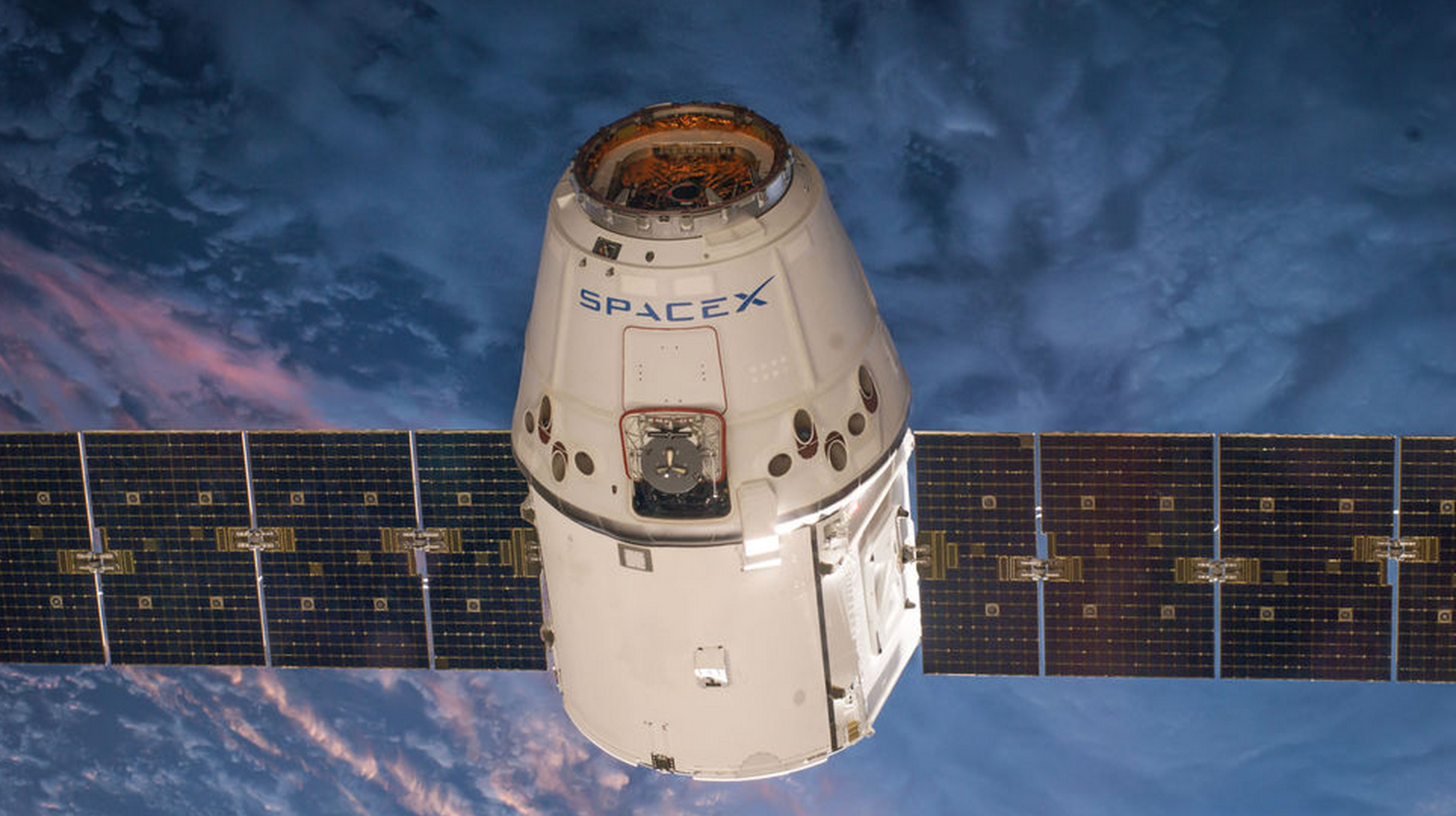 The original SpaceX Dragon capsule. Photo courtesy of SpaceX.