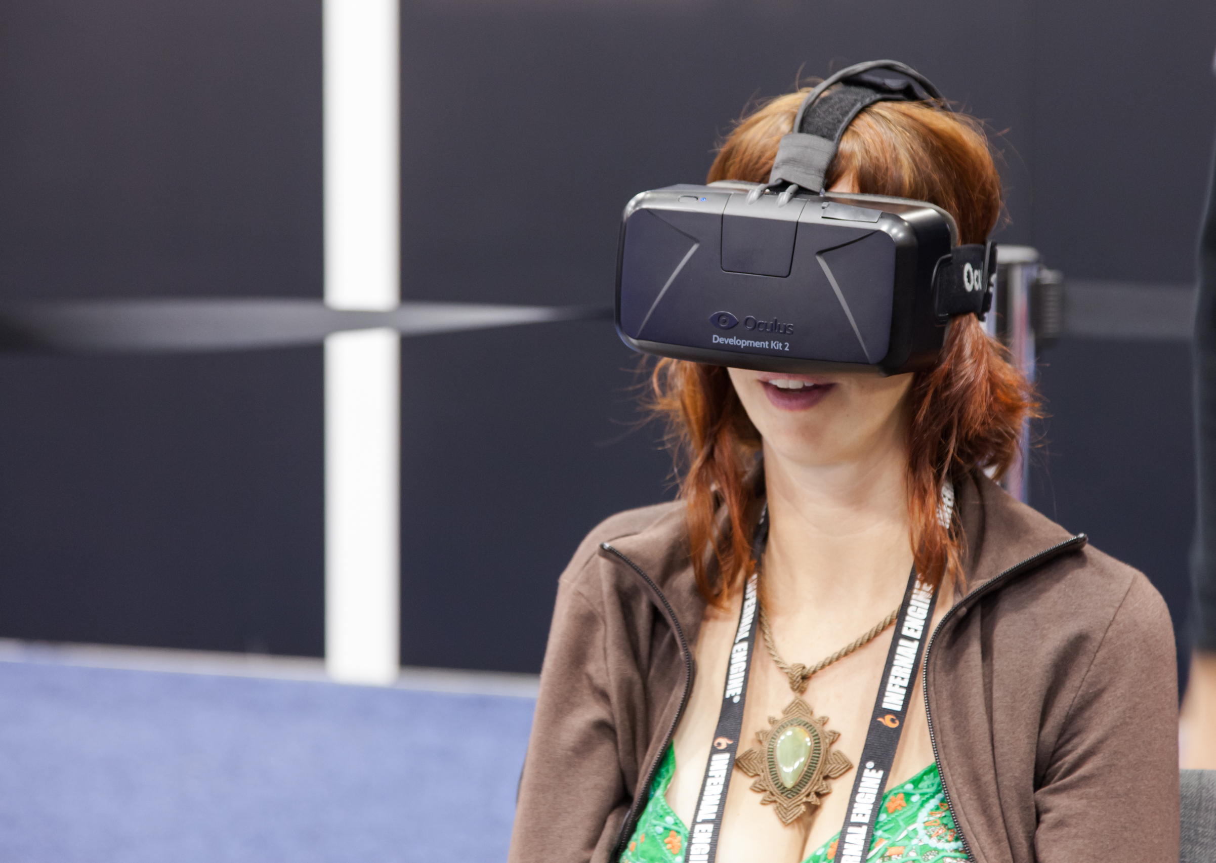 Oculus VR unveiling the second version of The Rift, its Virtual Reality headset for PC just before being bought by Facebook at GDC 2014 on March 20, 2014 in San Francisco, CA (Barone Firenze/Shutterstock)