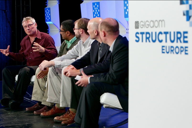 Stata (far left) at Structure Europe 2013.