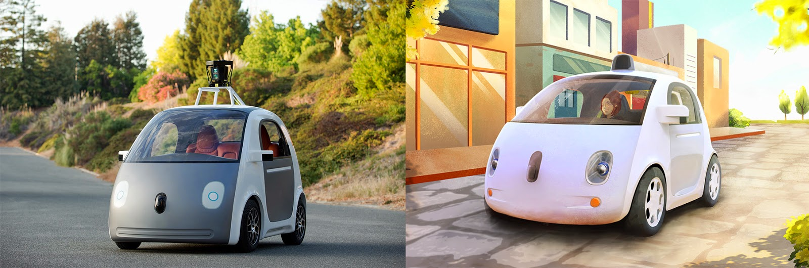 Google's new self-driving car prototype can't exceed 25 mph. (Source: Google)