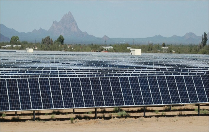 Solar Farm in Tucson, Arizona. Image courtesy of IBM Research, Flickr Creative Commons.