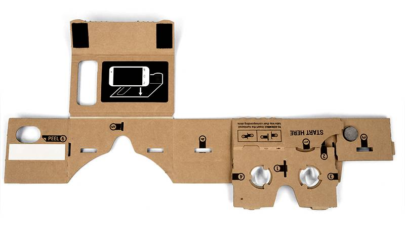Google Cardboard before assembly. Photo courtesy of Google.