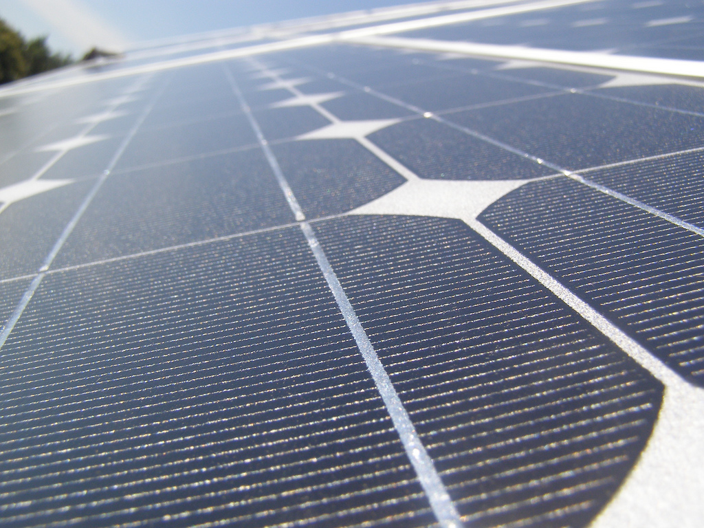 Solar panel, Image courtesy of Andreas Demmelbauer