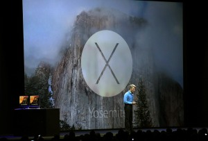 Apple Senior Vice President of Software Engineering Craig Federighi speaks about the new OS X Yosemite during the Apple Worldwide Developers Conference at the Moscone West center on June 2, 2014 in San Francisco, California. (Photo by Justin Sullivan/Getty Images)