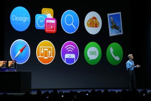 Apple Senior Vice President of Software Engineering Craig Federighi speaks during the Apple Worldwide Developers Conference at the Moscone West center on June 2, 2014 in San Francisco, California. (Photo by Justin Sullivan/Getty Images)