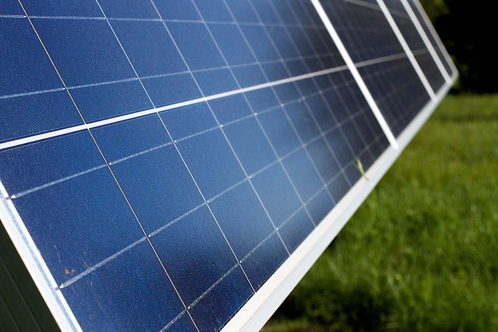 Solar panel, Image courtesy of Alan Levine, Flickr Creative Commons.