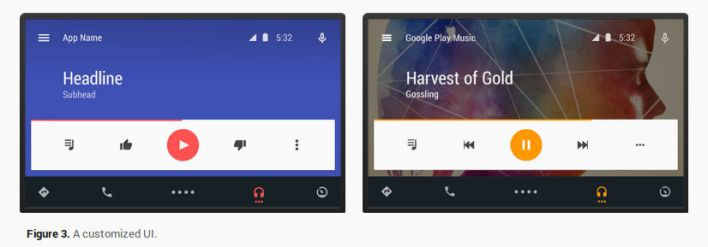 Android Auto only offers developers minimal app customization options.