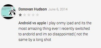 One of many reviews decrying the quality of karaoke apps on Android when compared to iOS.
