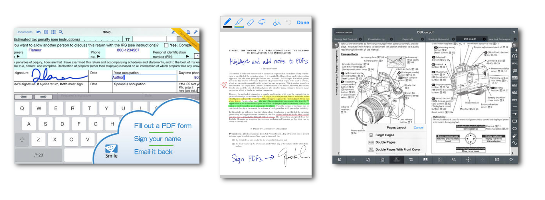 Forms and annotations