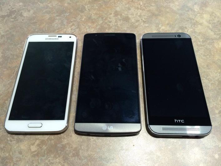 LG G3 size comparison