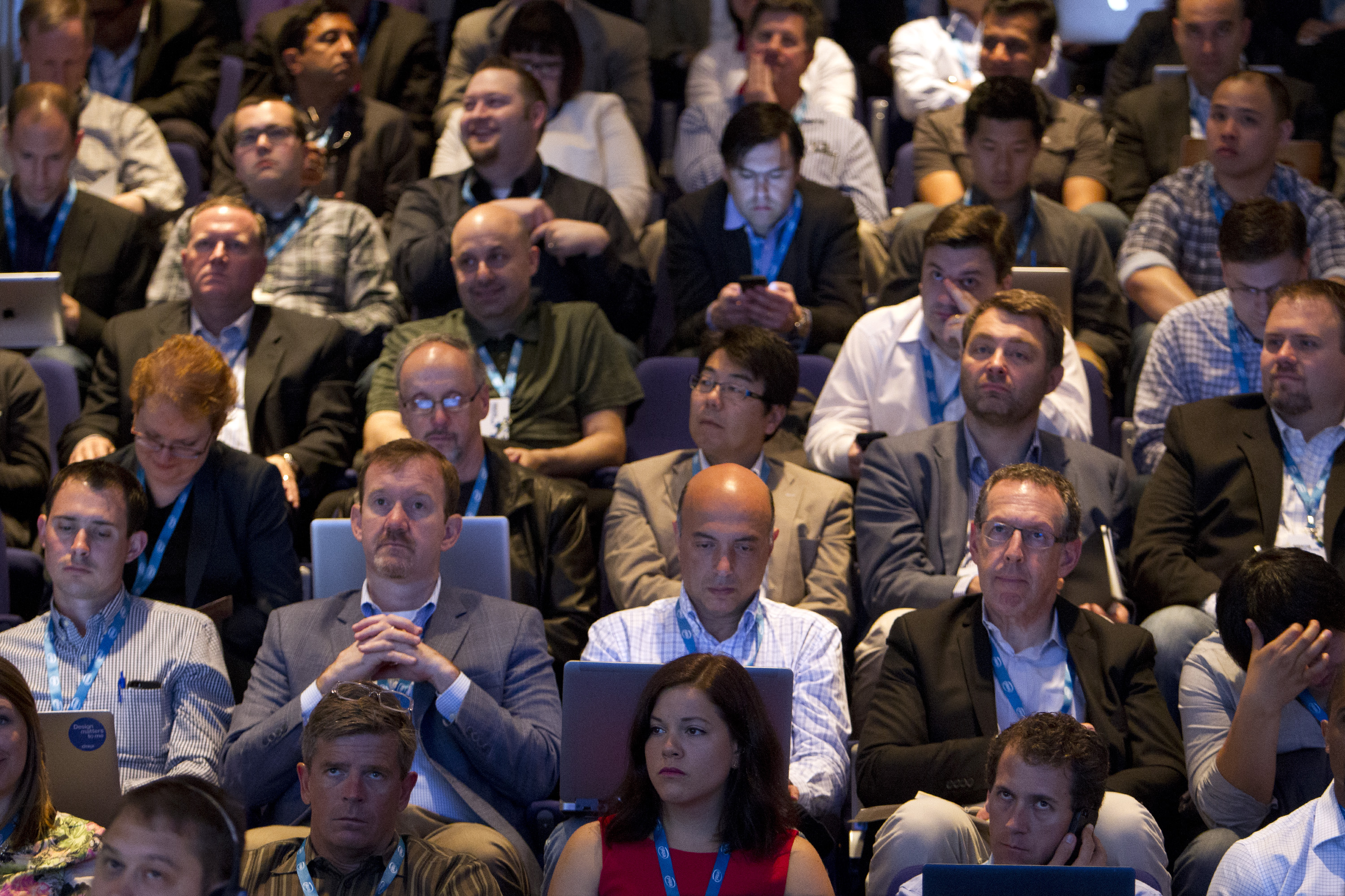 Attendees listen in at Structure 2014.