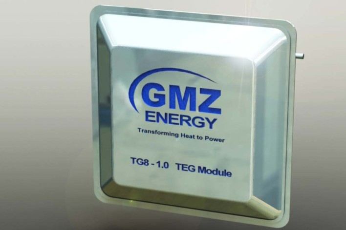 GMZ Energy's thermoelectric energy generator, image courtesy of GMZ Energy.