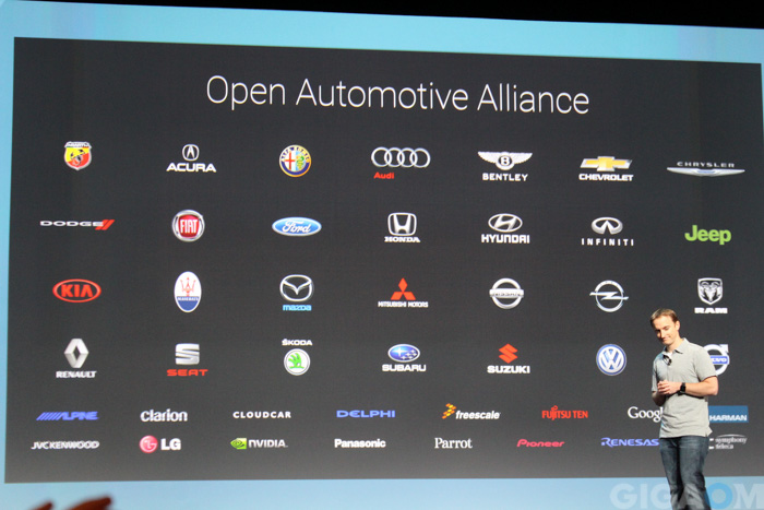 Google's Open Automotive Alliance partners (Photo: Janko Roettgers)