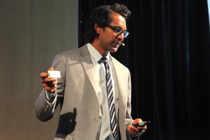 Sugarcube CEO Sri Gogineni. Photo by Signe Brewster.