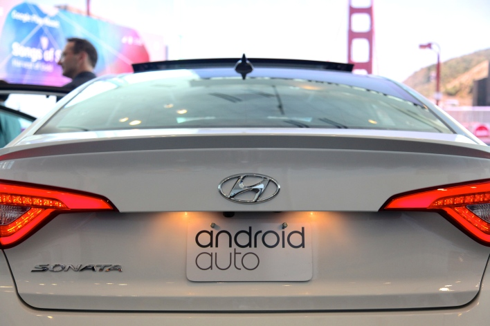 An Android connected Hyundai at Google I/O (photo: Signe Brewster)