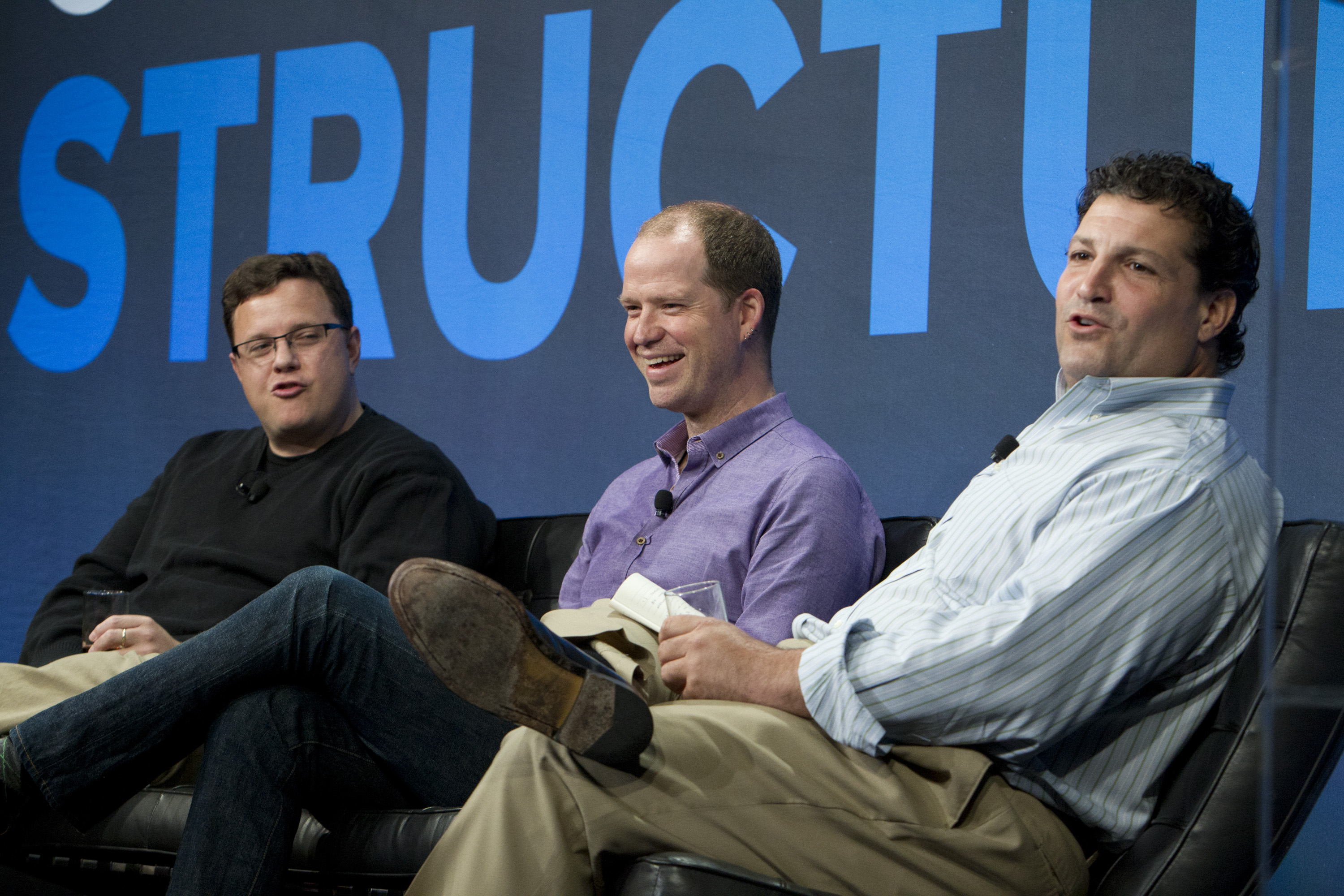 From L to R: Alexei Rodriguez, Evernote; Luke Kanies, Puppet Labs; Paul Santinelli, North Bridge Venture Partners