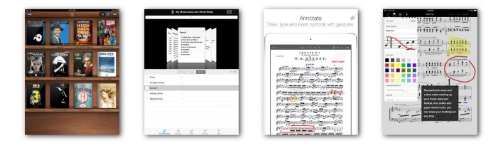 Managing sheet music