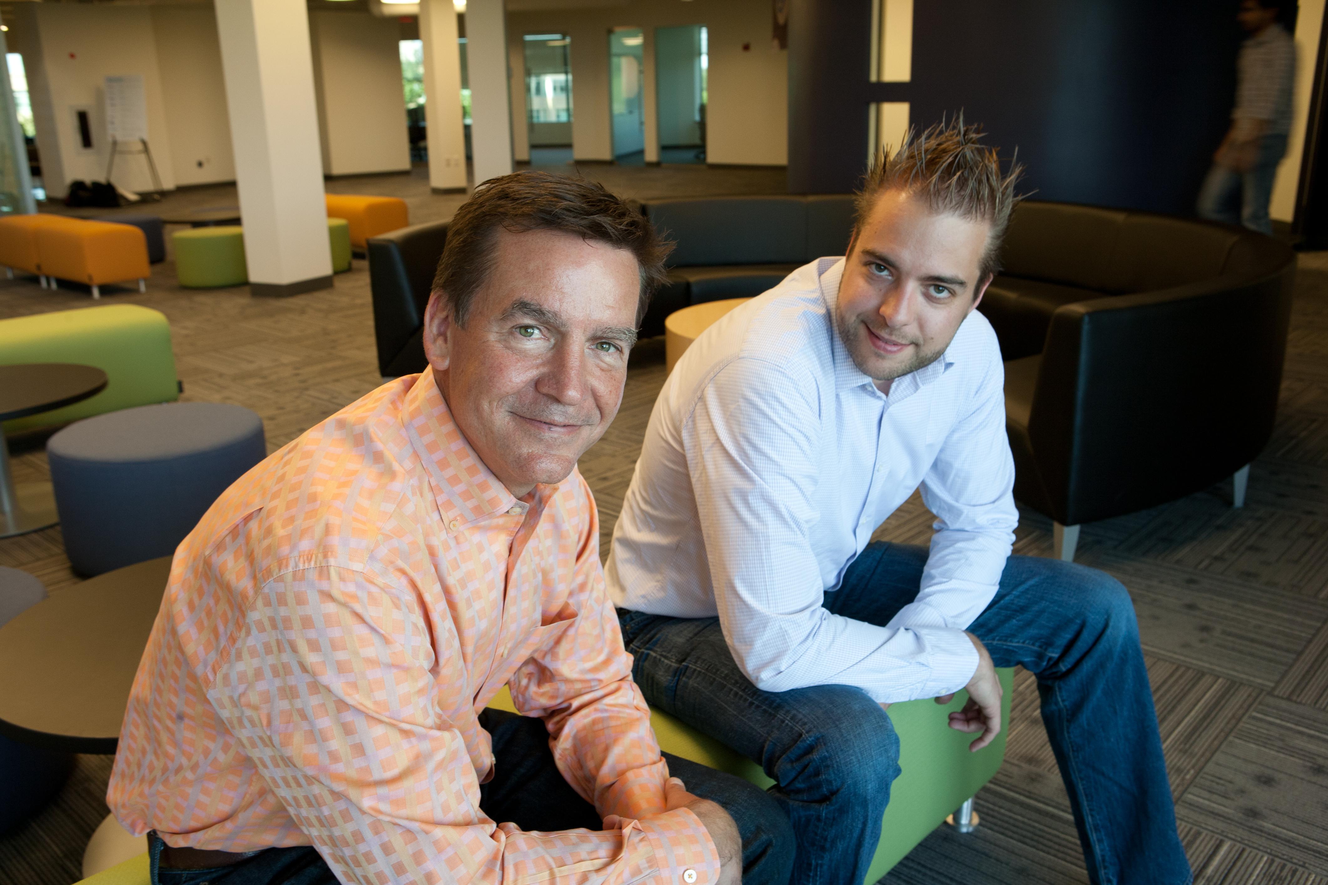 Acquia CEO Tom Erickson and CTO Dries Buytaert