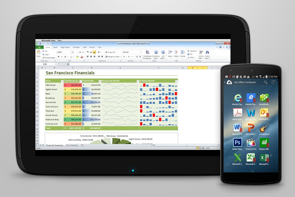 parallels access on android