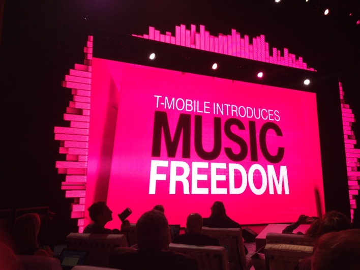T-Mobile is now letting customers on its Simple Choice data plans to stream music without it counting against their data plans (photo: Kevin Fitchard / Gigaom)